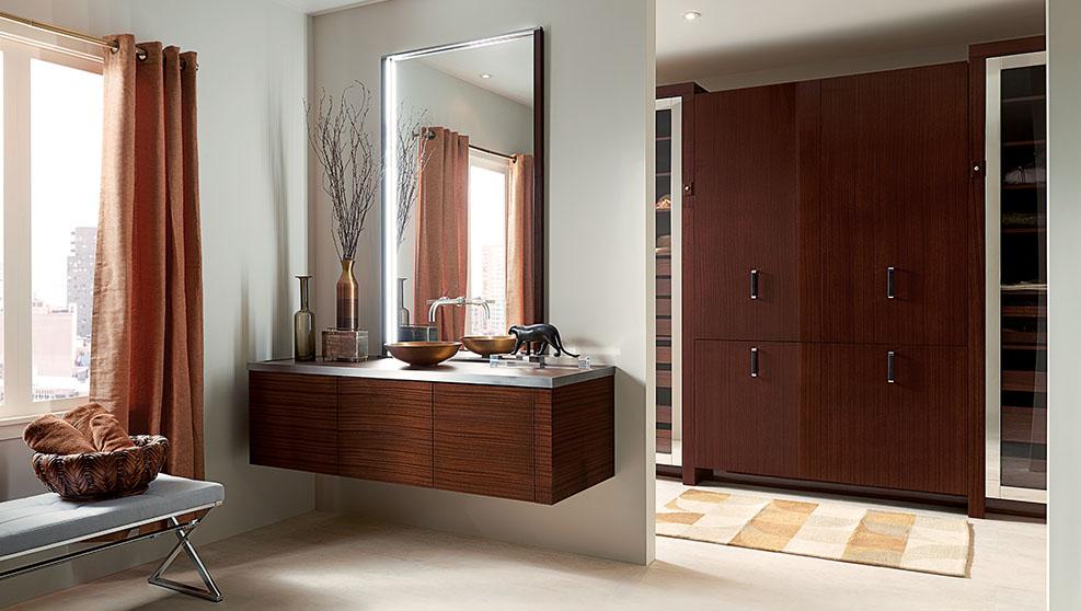 vanity & closet