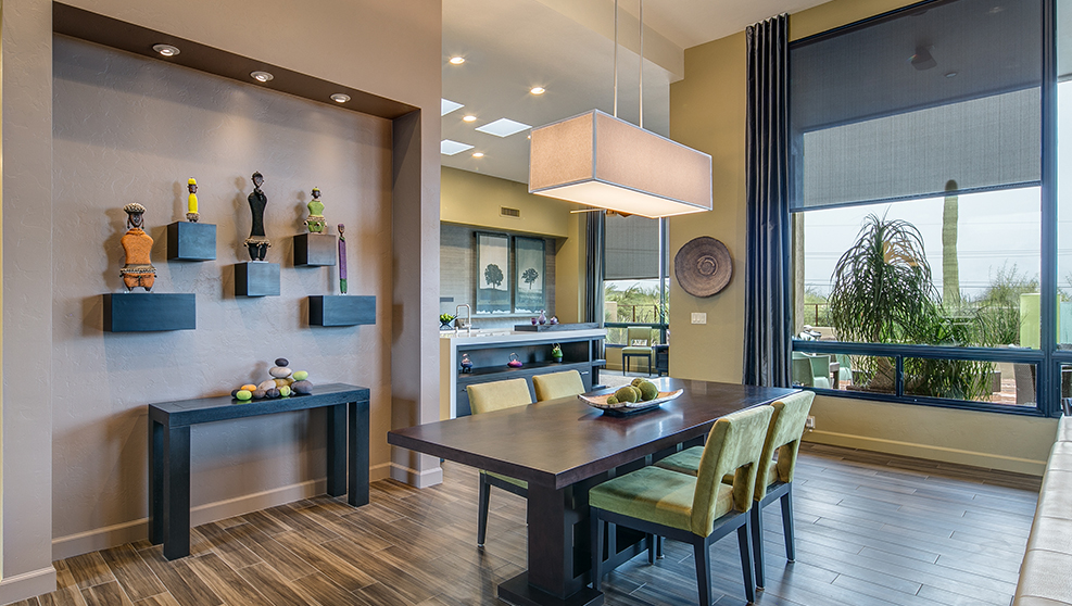 modern kitchen & dining room